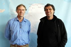 Polar explorers Sir Ranulph Fiennes and Alain Hubert