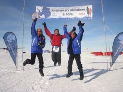The finishing line of the Ice Marathon