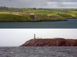 Above : Charles Fort / Below : Head of Kinsale's lighthouse