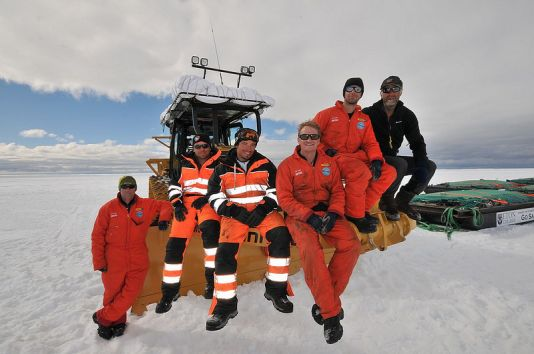 Ranulph Fiennes and the Coldest Journey team