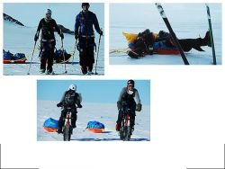 Skiing, biking, kiting...and sometimes falling down...