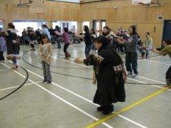 Traditional dancing at Ulukhaktok school
