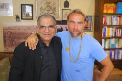 Meeting with spiritual leader Dr Deepak Chopra