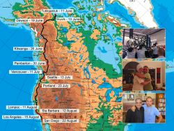 Nilson's Itinerary along the west coast