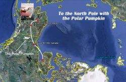 Map flight of the Polar Pumpkin