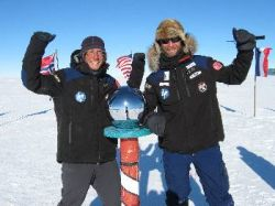 Pair at South Pole on 9 January 2012