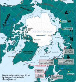 Our Map of Borge Ousland's Arctic circumnavigation