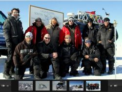 Moon/Regan Expedition team at the South Pole