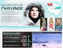 BBC TV presenter (Blue Peter show) Helen Skelton wants to have fun in the Antarctic
