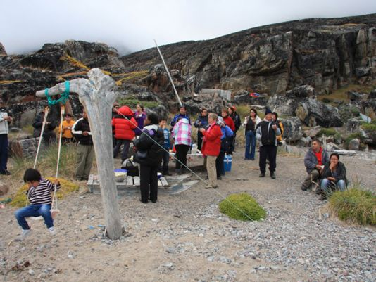 A 2 days long fest started in Uummannaq to end some 25 miles here from in Nuussuaq next morning.