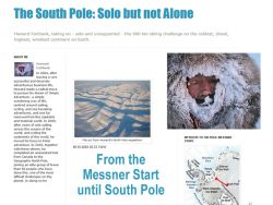 Solo but alone because some other expeditioners (clients) guided by R. Weber are following the same route.