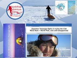 Solo skier Tae-Young Yasunaga Ogita on the trek Ward Hunt > North Pole