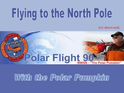 Flying to the North Pole