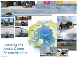 Crossing the Arctic Ocean during summertime