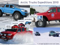 Trucks on the antarctic ice
