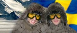 Two Swedish trying the South Pole