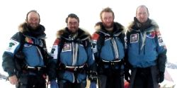 Polar Quest South Pole team