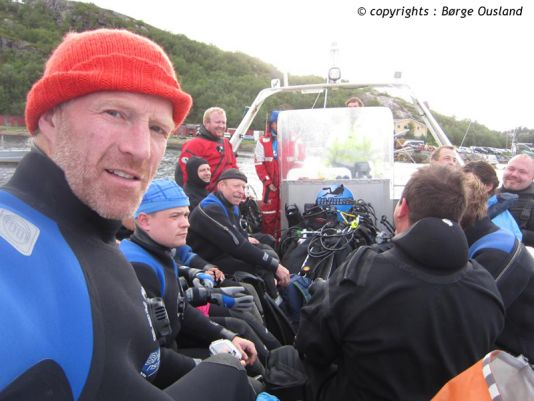 17 July / Joining members of Kirkenes Sports-Diving Club on an excursion.