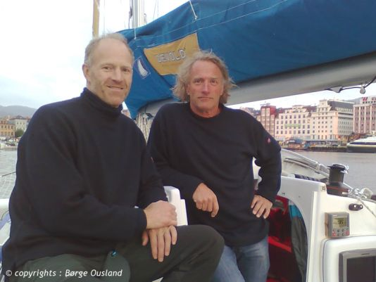 28 June / Børge and Thorleif during a relaxed moment in Bergen. Photo: Ina Schjøtt Brackman.