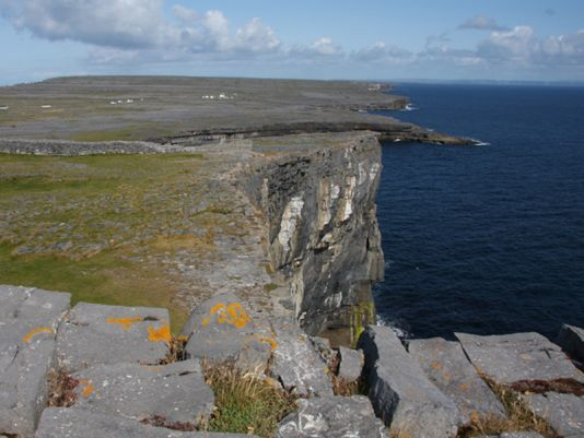 Inish More's limestone cliffs