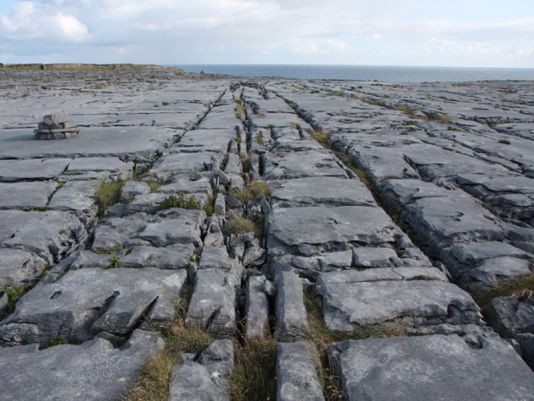 Karstic limestone formations stretching across square kilometres on the north of Inish More