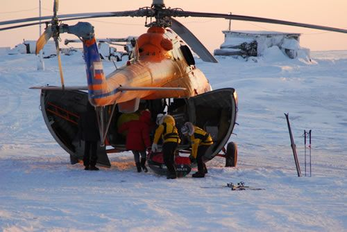 Loading helicopter - on the 1st of March 2007