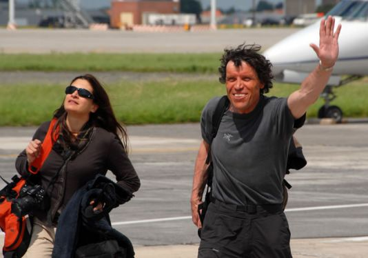 Zaventem Airport: Alain Hubert after airplane landing