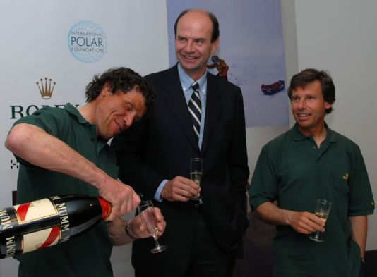 Press conference: Alain Hubert, Dixie Dansecoer and Philippe de Baets from Rolex