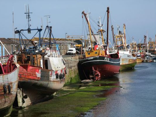 Penzance's walk leads to the Newlyn large fishing port. Lovely stroll ...