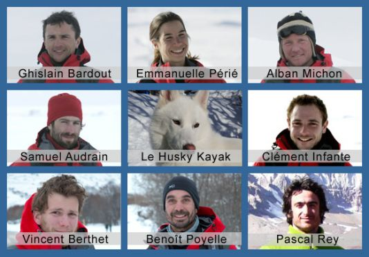 The team is constituted of 6 crew members with various experiences, bringing all the essential expertises necessary to make such a project successful: Most of them have worked on different expeditions of the famous Jean-Louis Etienne.