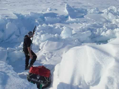 Wearing a T-shirt on the sea ice