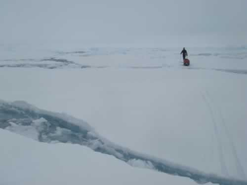 Picture taken on the 5th of June: worst day of the expedition
